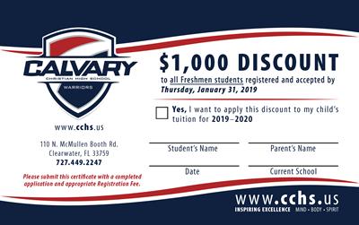 Freshman Enrollment Incentive