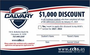 Freshmen Enrollment Incentive