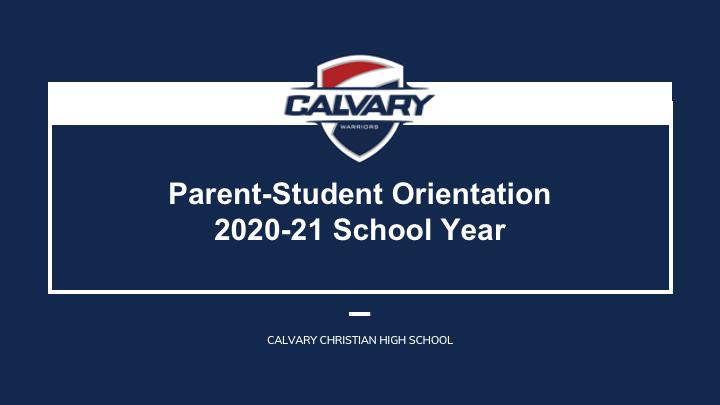 Parent-Student Orientation 2020 - Video